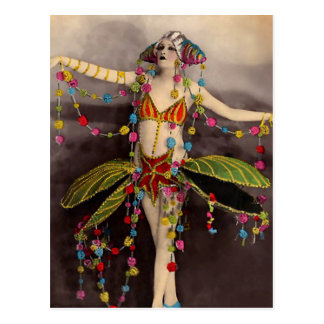 Parisienne Casino Dancer Postcard