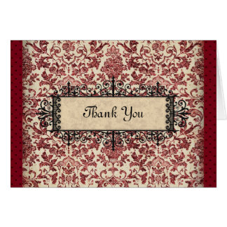 Parisienne Thank You Card