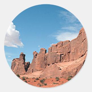 Park Avenue, Arches National Park, Utah Classic Round Sticker
