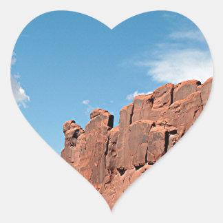 Park Avenue, Arches National Park, Utah Heart Sticker