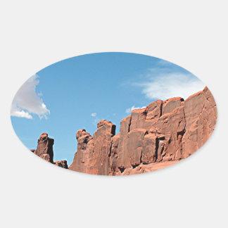 Park Avenue, Arches National Park, Utah Oval Sticker
