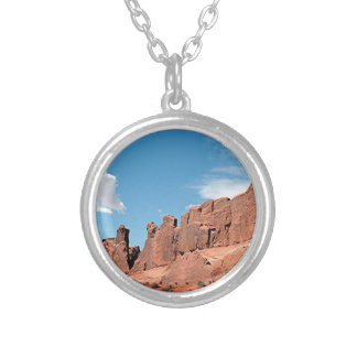 Park Avenue, Arches National Park, Utah Silver Plated Necklace