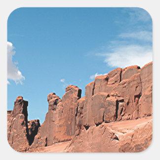 Park Avenue, Arches National Park, Utah Square Sticker