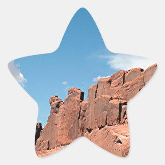 Park Avenue, Arches National Park, Utah Star Sticker