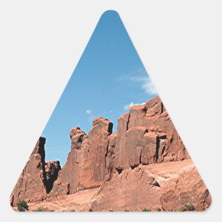 Park Avenue, Arches National Park, Utah Triangle Sticker
