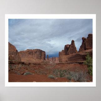 Park Avenue - Moab, Utah Poster