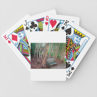 Park Bench 1 Bicycle Playing Cards