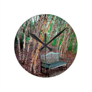 Park Bench 1 Round Clock