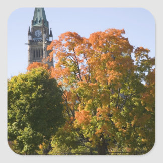 Park beside the Parliment Building in Ottawa, Square Sticker