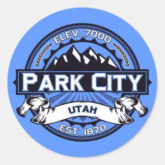 Park City Color Logo Sky Blue Stickers