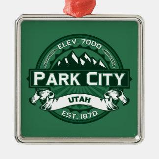 Park City Logo Forest Metal Ornament
