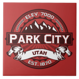 Park City Logo Red Tile