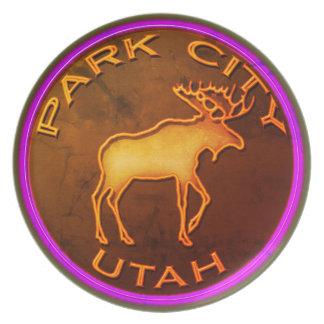 Park City Moose Medallion Plate