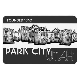 Park City Utah old town buildings gray magnet