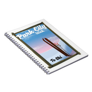 Park city Utah Ski travel poster Notebooks