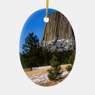 Park Devils Tower Monument Wyoming Ceramic Ornament