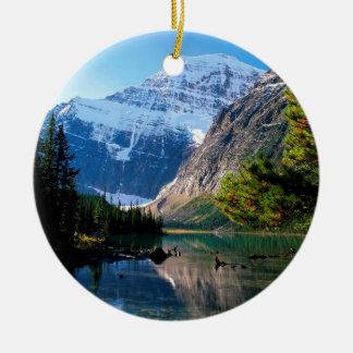 Park Edith Cavell Jasper Alberta Round Ceramic Ornament