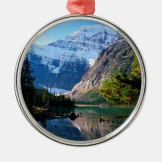 Park Edith Cavell Jasper Alberta Silver-Colored Round Ornament