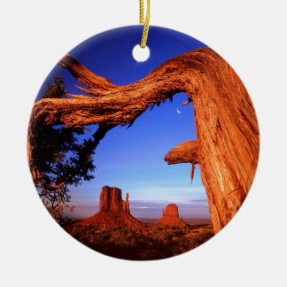Park Fallen Monument Valley Ceramic Ornament