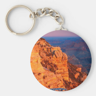 Park Grand Canyon At Sunrise Mather Point Basic Round Button Keychain
