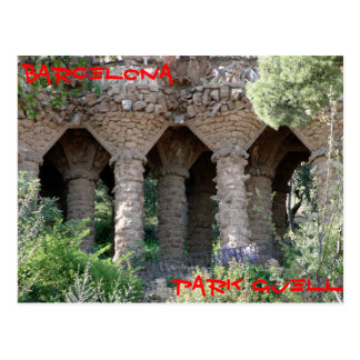 Park Guell Barcelona Postcard