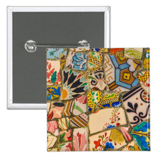 Park Guell in Barcelona Spain 2 Inch Square Button