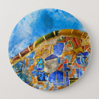 Park Guell in Barcelona Spain 4 Inch Round Button