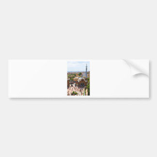 Park Guell in Barcelona, Spain Bumper Sticker