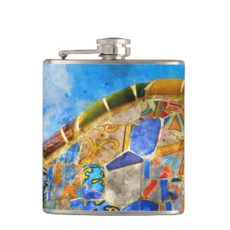 Park Guell in Barcelona Spain Flasks