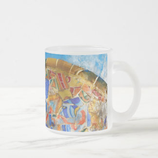 Park Guell in Barcelona Spain Frosted Glass Coffee Mug
