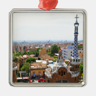 Park Guell in Barcelona, Spain Metal Ornament