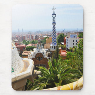 Park Guell in Barcelona, Spain Mouse Pad