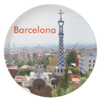 Park Guell in Barcelona, Spain Party Plate