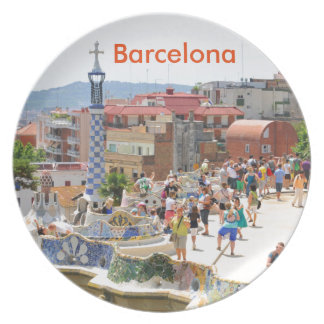 Park Guell in Barcelona, Spain Party Plates