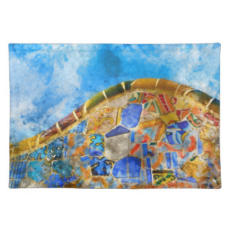 Park Guell in Barcelona Spain Placemat