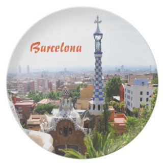 Park Guell in Barcelona, Spain Plates