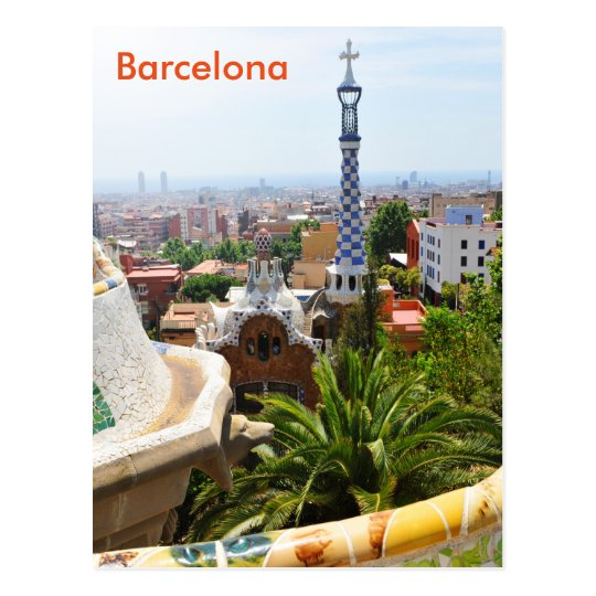 Park Guell in Barcelona, Spain Postcard