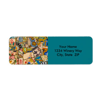 Park Guell in Barcelona Spain Return Address Label