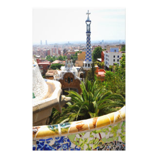 Park Guell in Barcelona, Spain Stationery