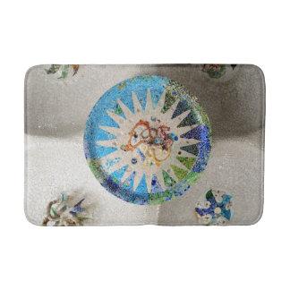 Park Guell mosaics Bath Mat