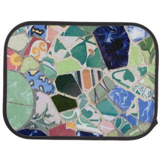 Park Guell mosaics Car Mat