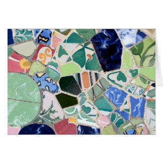 Park Guell mosaics Card