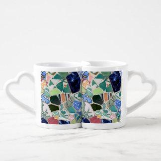 Park Guell mosaics Coffee Mug Set