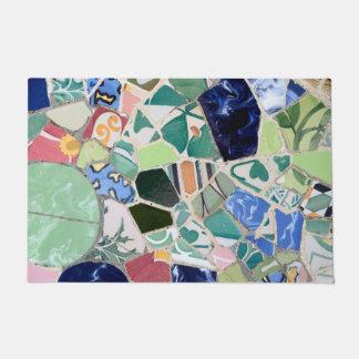 Park Guell mosaics Doormat