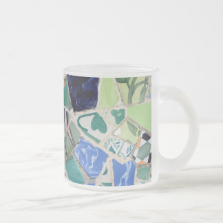 Park Guell mosaics Frosted Glass Coffee Mug