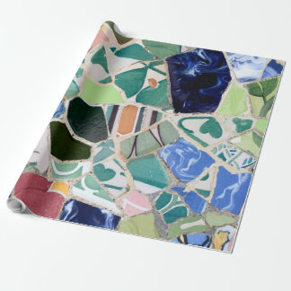 Park Guell mosaics Wrapping Paper
