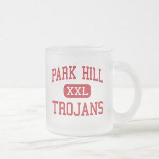 Park Hill - Trojans - High - Kansas City Missouri Frosted Glass Coffee Mug