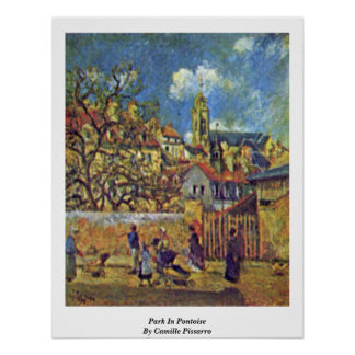 Park In Pontoise By Camille Pissarro Poster