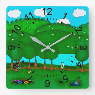 Park Life Square Wall Clock