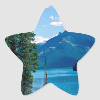 Park Maligne Lake Jasper Alberta Canada Star Sticker